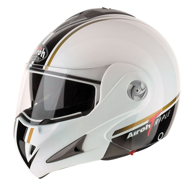Casque Airoh Mathisse Rs X Déco Triple Blanc Airoh Moto Magasin