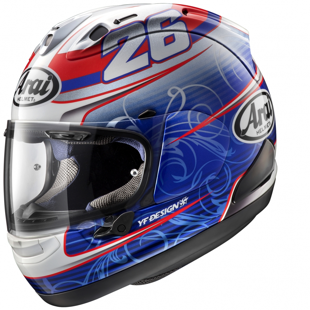 casque arai rx7 v replica pedrosa 2016 arai moto magasin arai. Black Bedroom Furniture Sets. Home Design Ideas