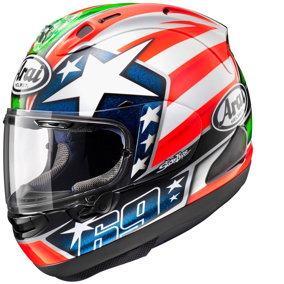 casque arai rx7 v replica hayden 2016 arai moto magasin arai. Black Bedroom Furniture Sets. Home Design Ideas