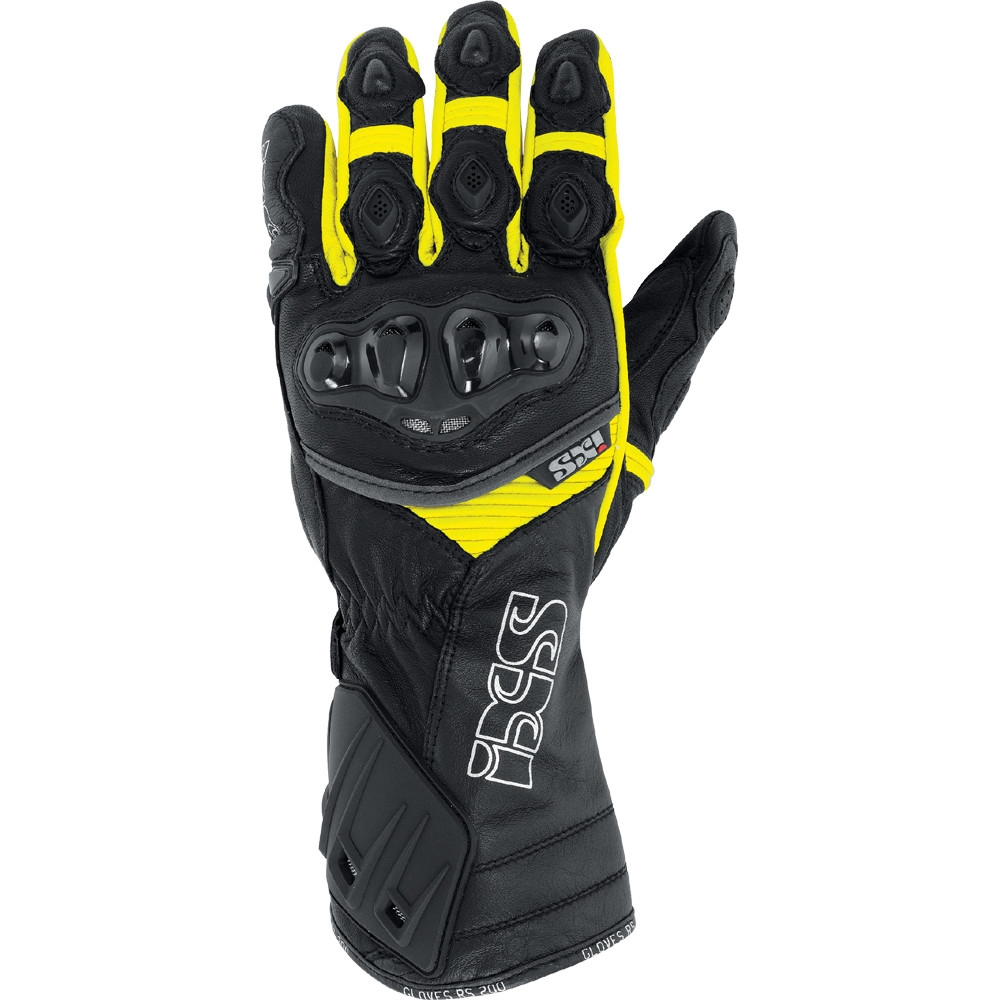 gants rs 200 noir jaune ixs moto magasin ixs. Black Bedroom Furniture Sets. Home Design Ideas