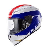 Casque FF 323 Comet White Blue Red LS2