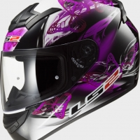 Casque FF 352 Flutter Black Purple LS2