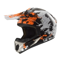 Casque MX 433 Blast White Black Orange LS2