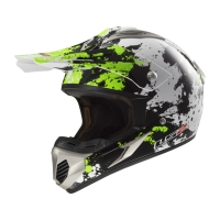 Casque MX 433 Blast White Black Green LS2