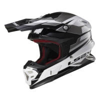 Casque MX 456 Factory White Black Titanium LS2