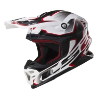 Casque MX 456 Compass White Red LS2