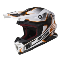 Casque MX 456 Compass White Orange LS2