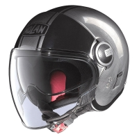 Casque N21 Duetto Scratched Chrome 18 Nolan