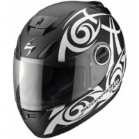 Casque Scorpion EXO 750 Tribal Noir/Blanc Scorpion