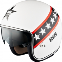Casque HX 77 Start Blanc Noir Rouge IXS