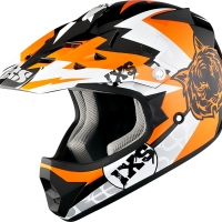 Casque HX 278 Tiger Noir Orange Blanc IXS
