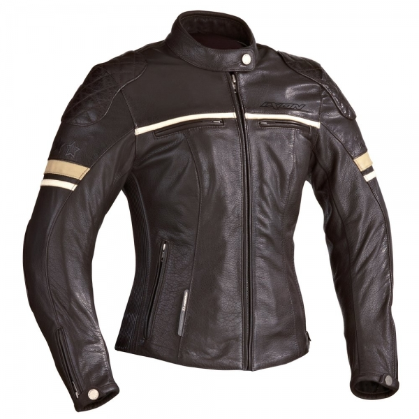 Blouson Motors Lady Marron Ixon