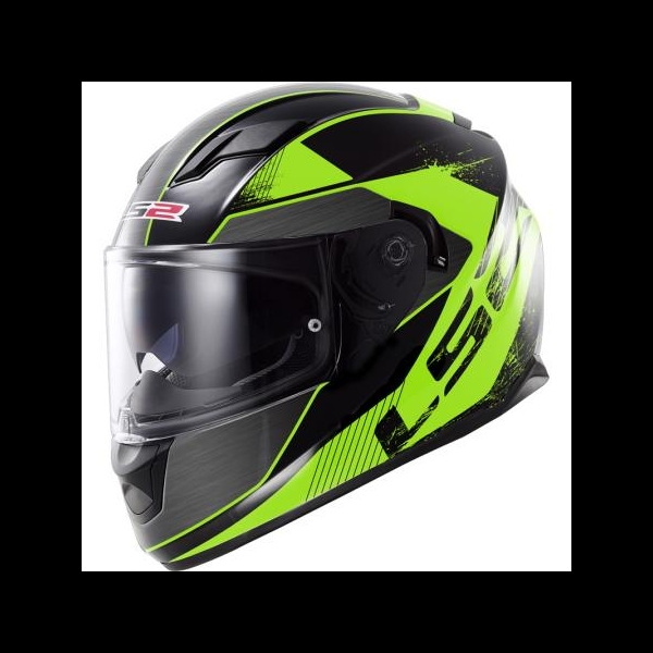 Casque FF 320 Stinger Black Fluo Green LS2