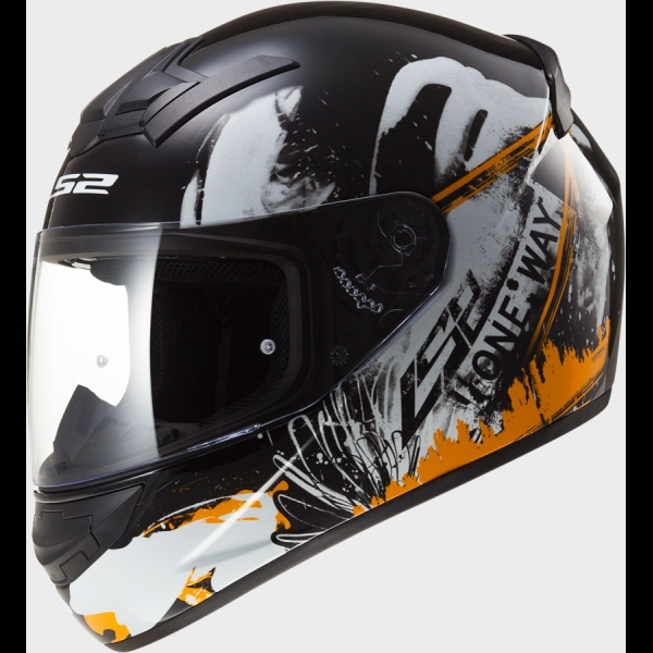 Casque FF 352 One Black Orange Fluo LS2