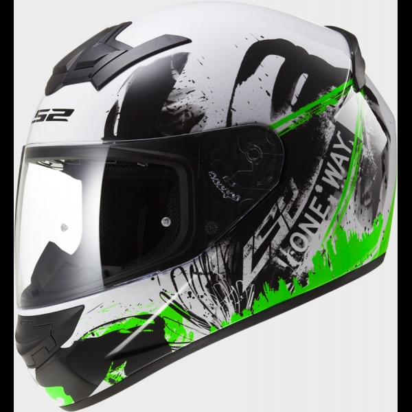 Casque FF 352 One Black Green Fluo LS2