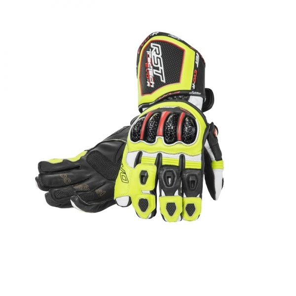 gants racing tractech evo race jaune rst moto magasin rst. Black Bedroom Furniture Sets. Home Design Ideas