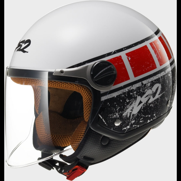 Casque OFF 560 Rook White Red LS2
