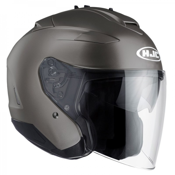 Casque Jet IS-33II Semi Mat Titanium Hjc