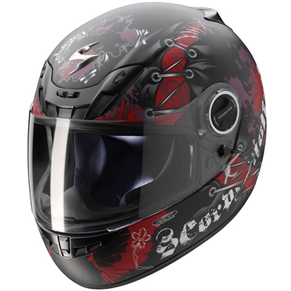 Casque Scorpion EXO 450 Air Scarhead Noir Rouge Mat Scorpion