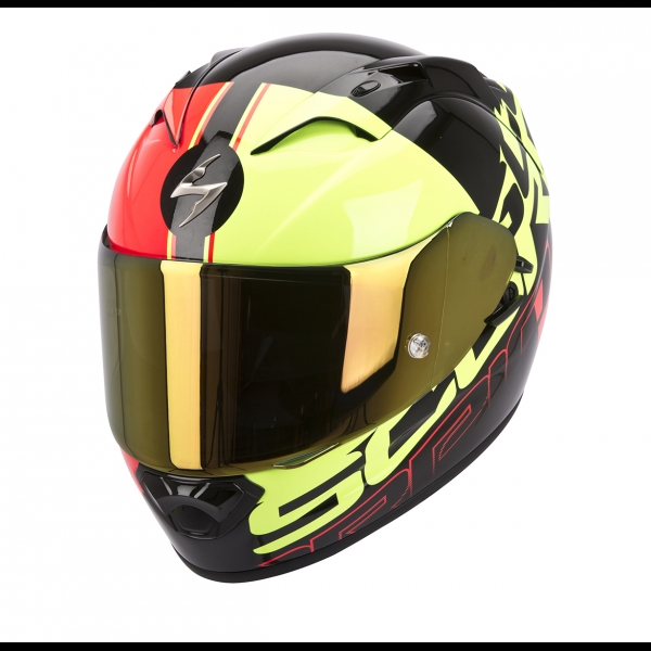 Casque Scorpion EXO 1200 Quarterback Jaune Scorpion